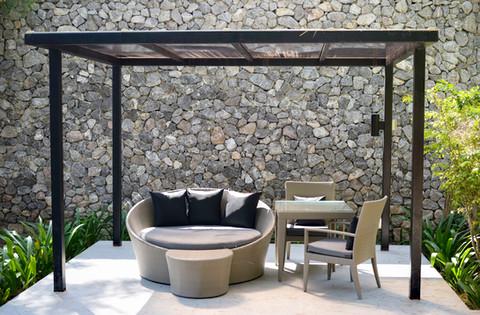 relaxing corner outdoor furniture
