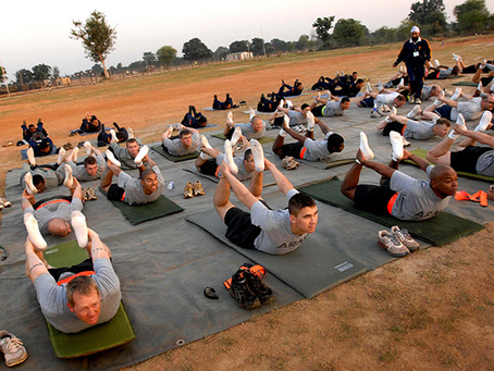 Healing the wounds of war with yoga