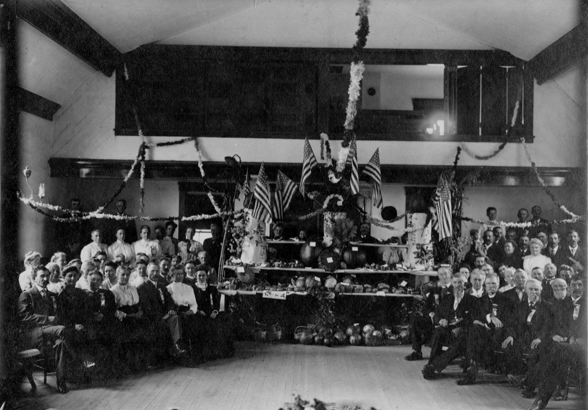 Interior with Wooden Floor during Grange Fair 1910