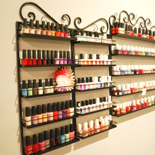 We offer a variety of colors to choose from for manicures and pedicures.