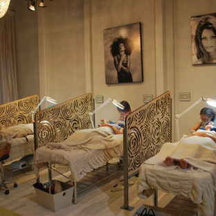 Relax in our open yet private space with a pedicure while you get your lashes done right above busy Fifth Avenue