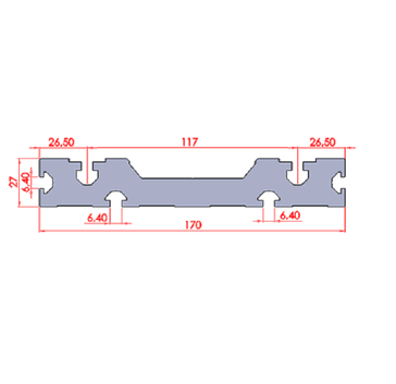 27X170 Yüzey Kaplama Profili ölçüleri.pn