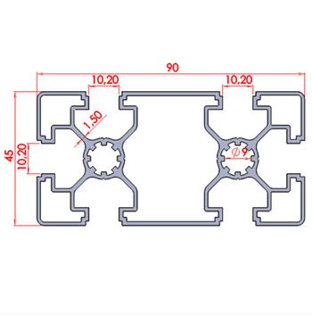 45x90 Süper Light Sigma Profil ölçüleri.