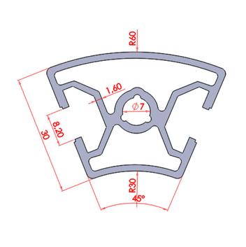 30x45 Dereceli 45° Sigma Profil ölçüleri