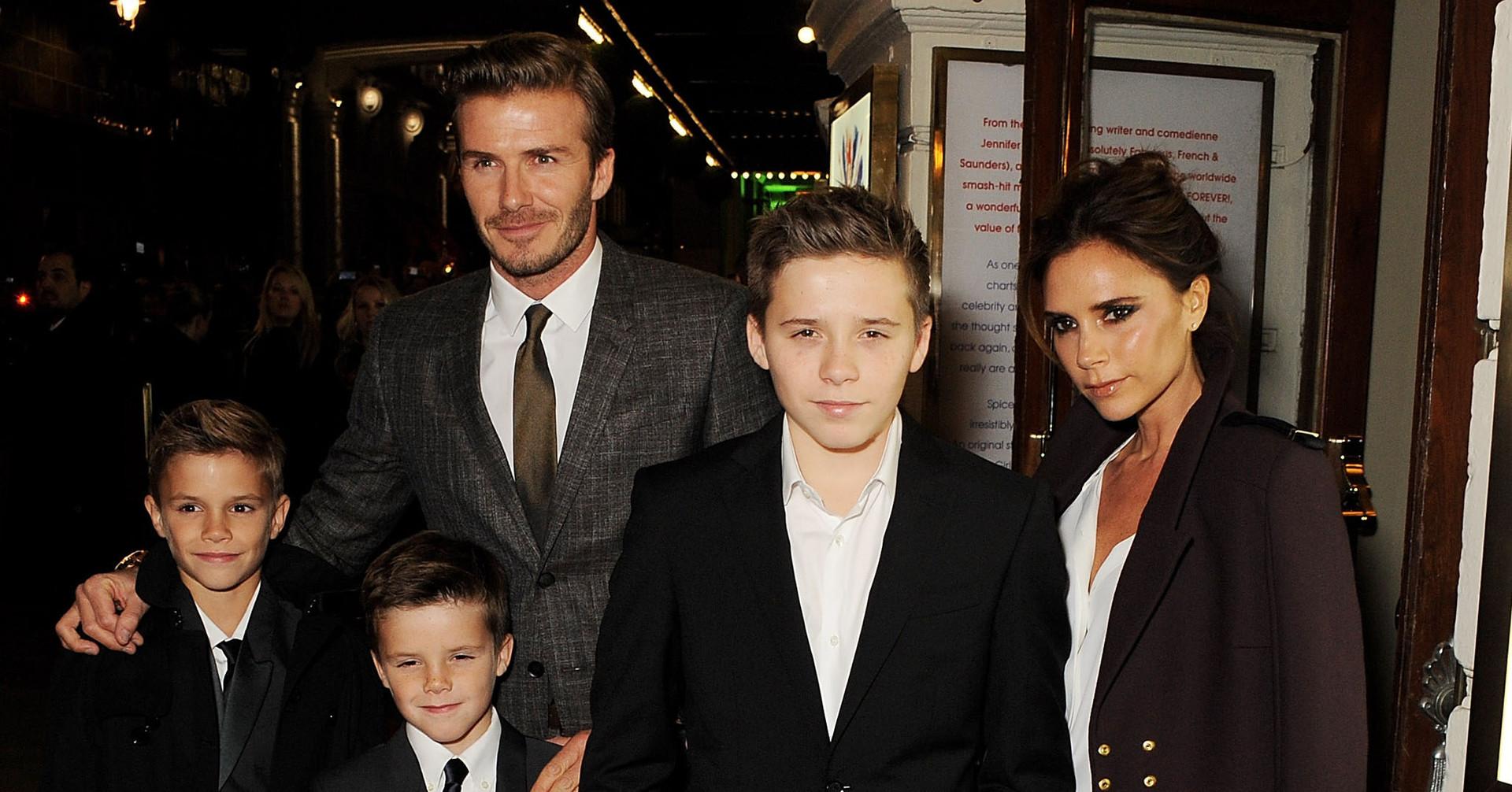 The Beckham family عائلة بيكهام