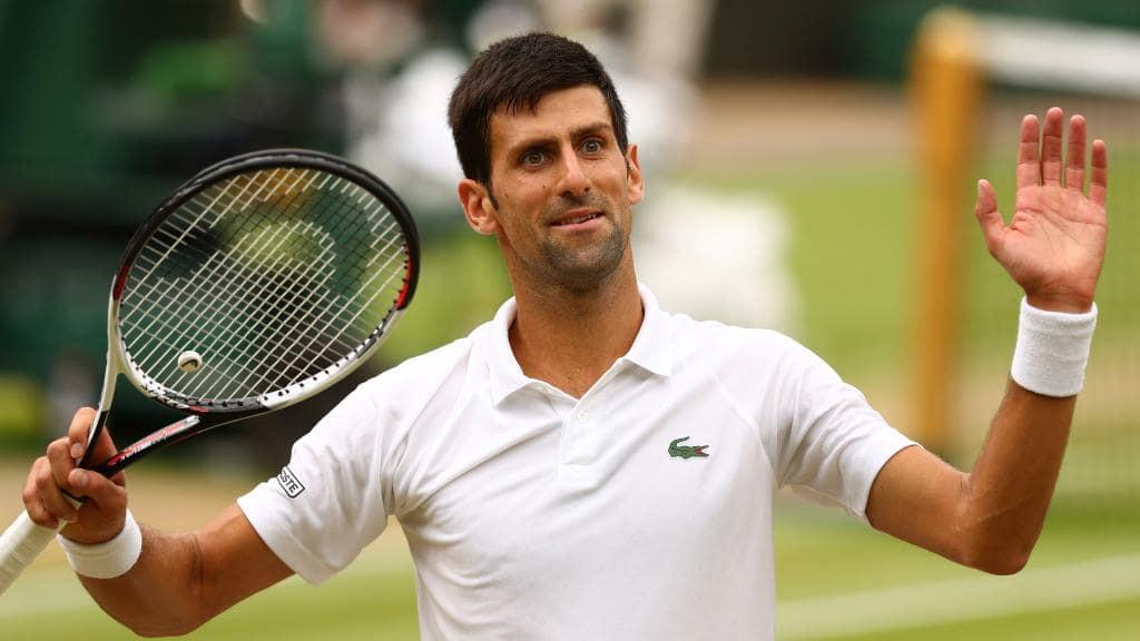 Tennis player Novak Djokovic لاعب التنس نوفاك ديوكوفيتش