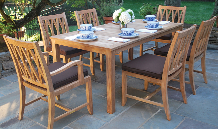 Kingsley Bate Somerset Dining Chairs and Dining Table