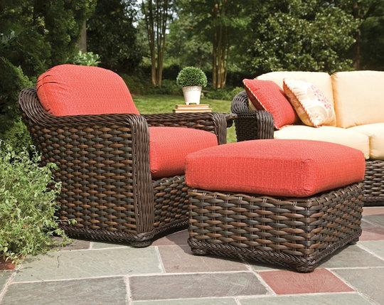 Brown Jordan Lounge Chair and Ottoman