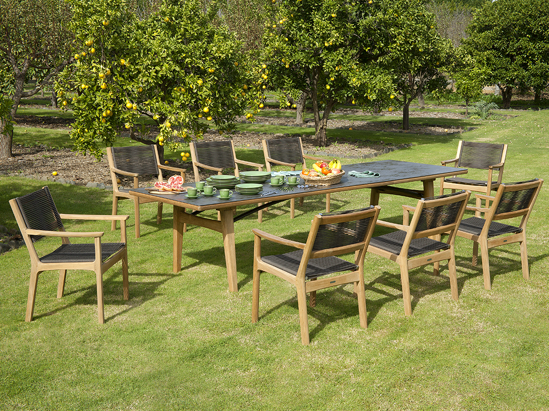Barlow Tyrie Monterey Dining Chairs and Dining Table