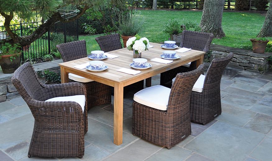 Kingsley Bate Sag Harbor Dining Chairs and Dining Table