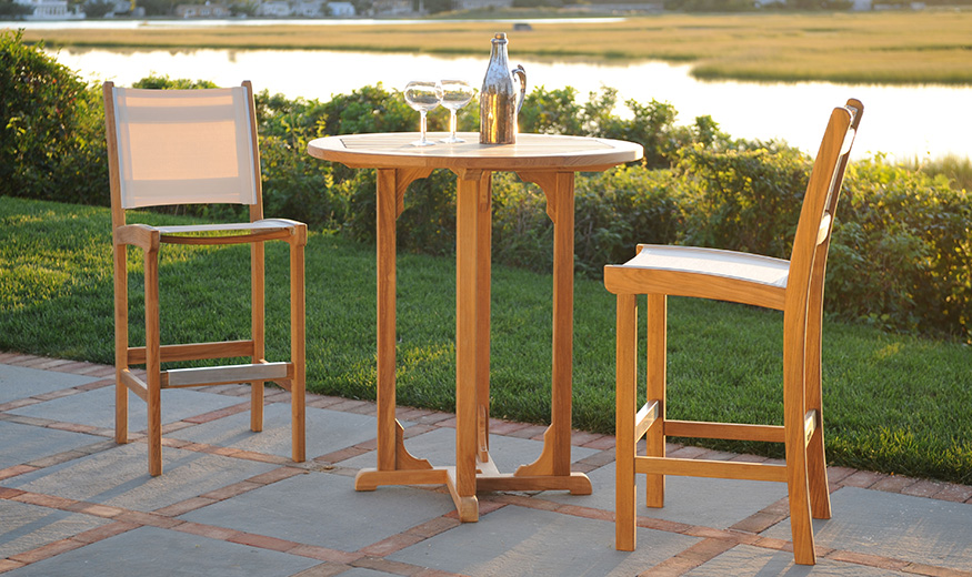 Kingsley Bate St Tropez Bar chairs and table