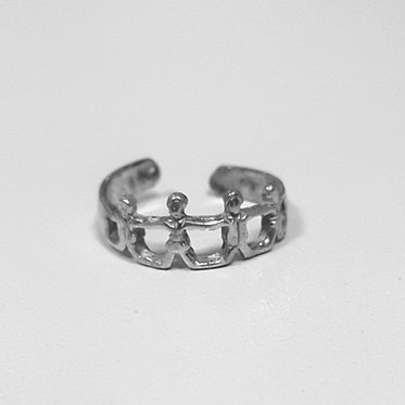 United silver toe ring