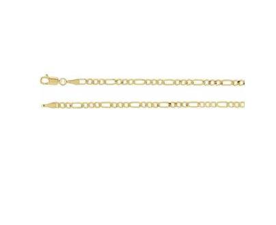 14k 3mm Figaro gold chain