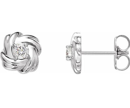 14k Diamond Knot Earrings