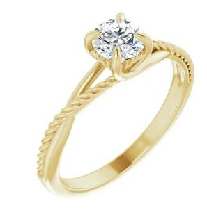 Rope inspired engagement ring