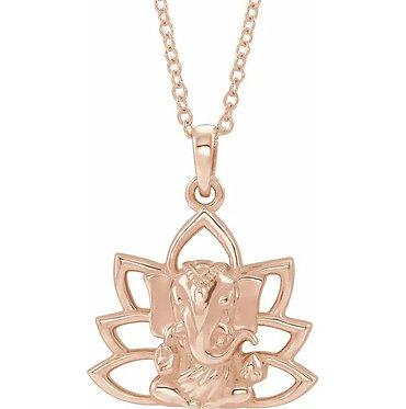 14K Ganesha necklace and Pendant