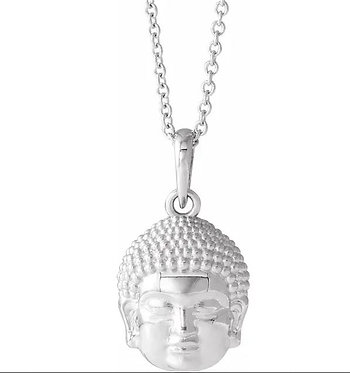 14k buddha necklace