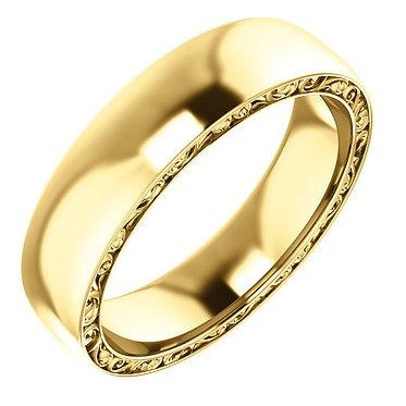 Sculptural inspired wedding ring