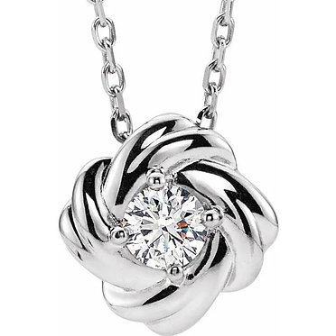 14k Diamond Knot Necklace