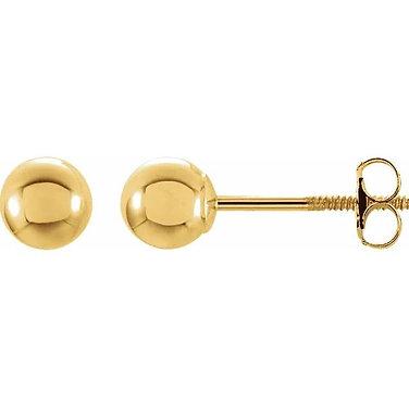 14k gold Ball Stud Earrings