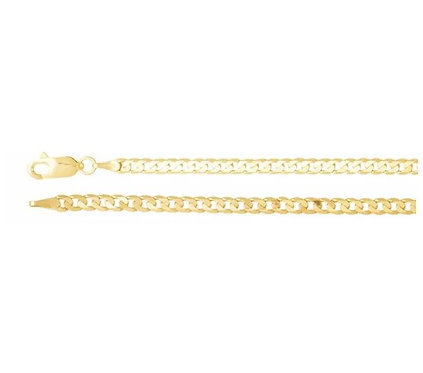 14k gold 3mm Curb Chain