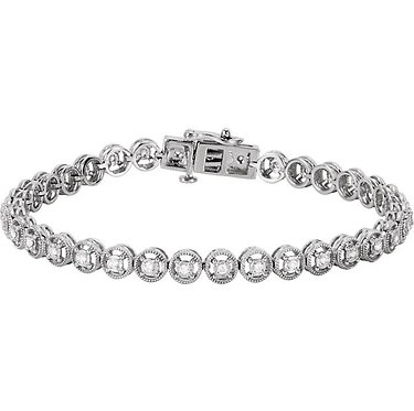 14k white 1/2 CTW diamond bracelet