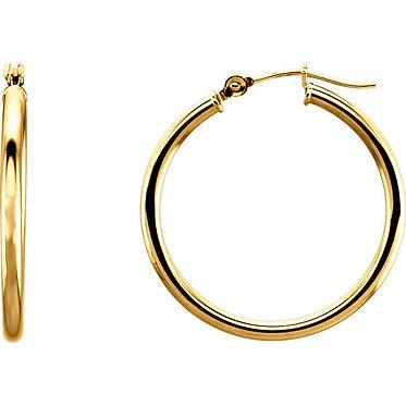 14k Tube Hoop Earrings