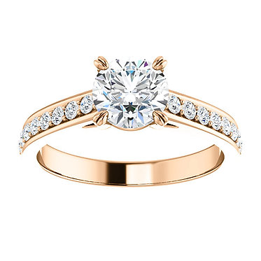 14k Round Engagement Ring