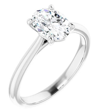 1.0 ct diamond oval solitaire