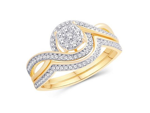 10kt Diamond Engagement Ring