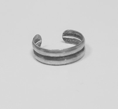 Grooved Toe Ring