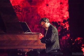 """Gilles Nicolas dans """"le voyage amoureux """" lors du festival Sand et Chopin en Seyne"""