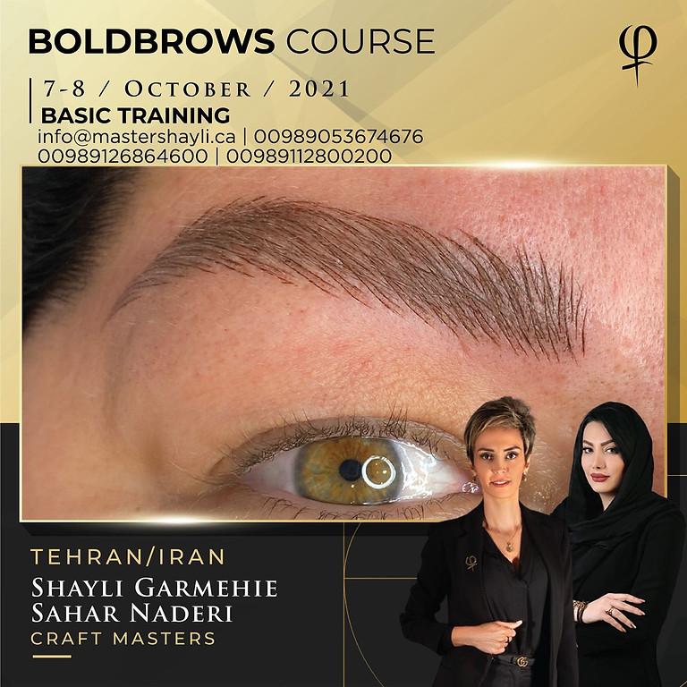 Boldbrows workshop Tehran Iran October 2021
