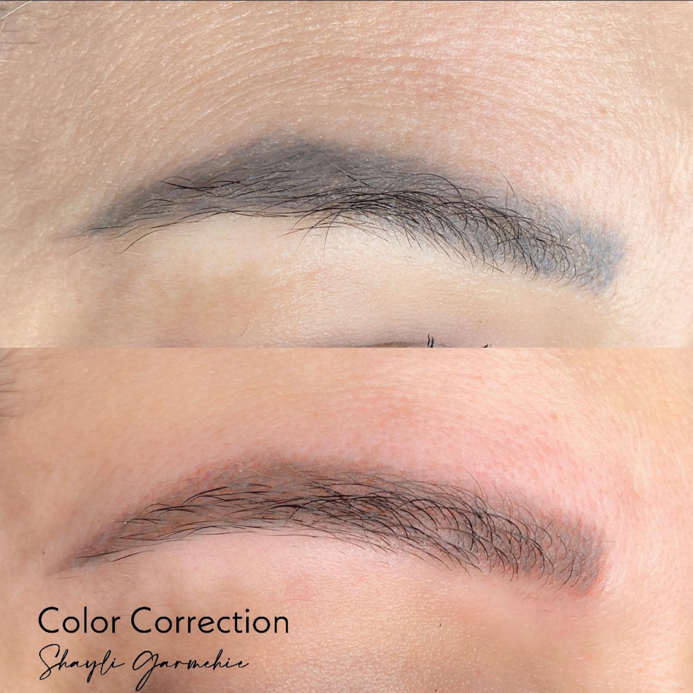 Eyebrow colour correction