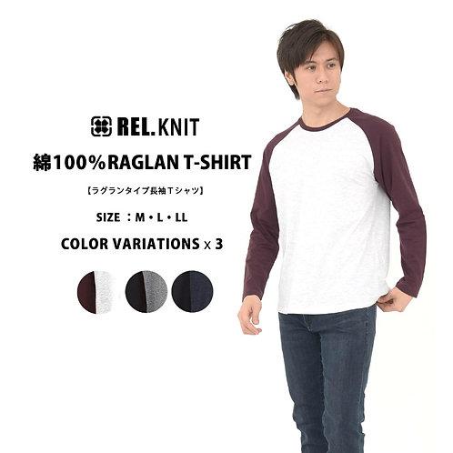 OT06ラグラン長袖Tシャツ