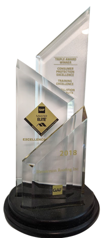 2018 GAF Triple Excellence Award Residential Roofing