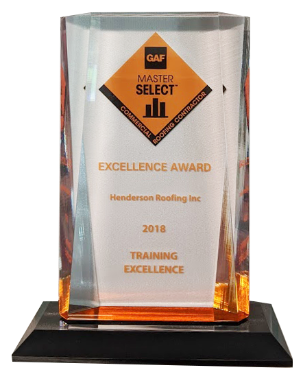 2018 GAF Commercial Roofing Excellence Award