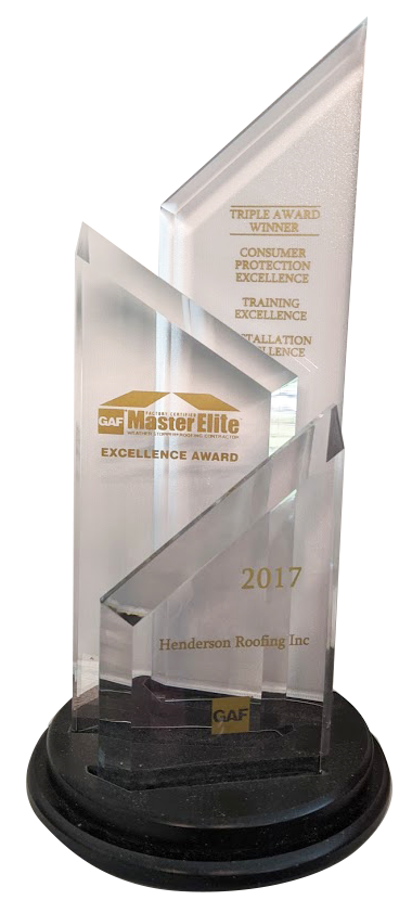 2017 GAF Triple Excellence Award Residential Roofing