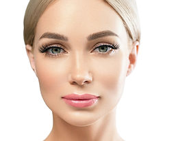 Beautiful woman face cosmetic concept la