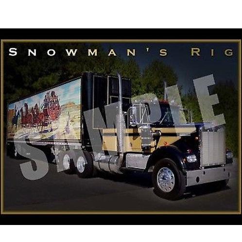 Snowman Run Poster (B)