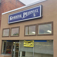 store front Gooding pharmacy