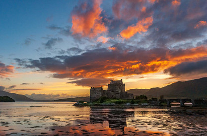 Glowing Sunset over the Castle