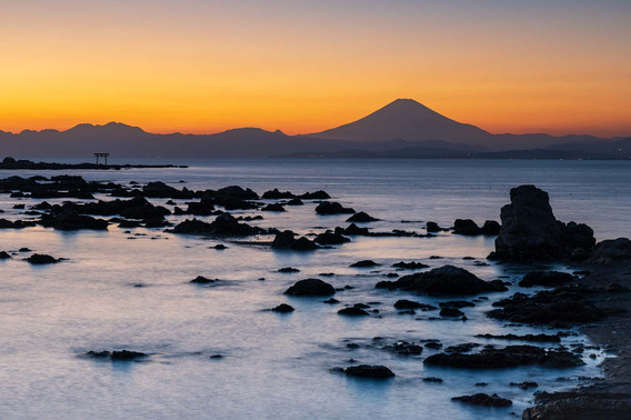 Sunset on Shonan Bay