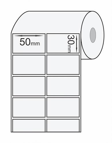 Etiqueta Adesiva 50x30 Couche (Rolo 2500)