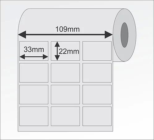 Etiqueta Adesiva 33x21 Couche (Rolo 5000)