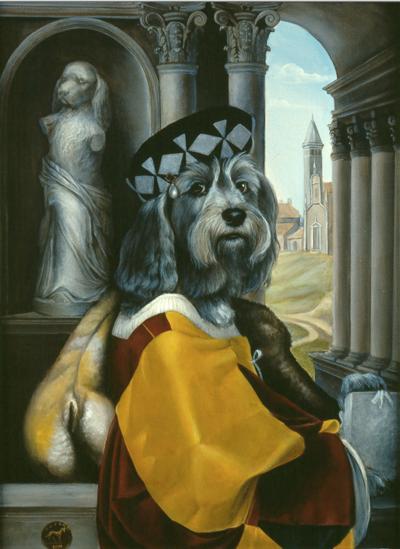 Dog portrait by Melinda Copper