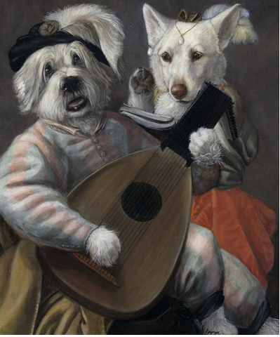 Dogs portrait by Melinda Copper