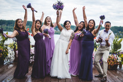 Poulsbo Bride and bridal party