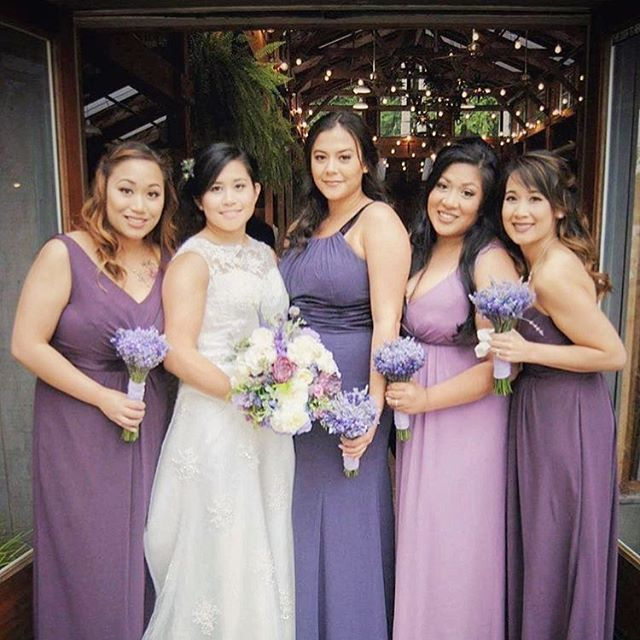 LGBT wedding and bridal party