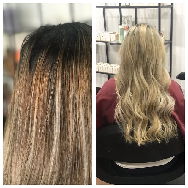 Removing Brassy to cool blonde by Lacey